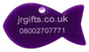 Fish Shaped Pet Tag purple