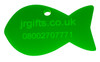 Fish Shaped Pet Tag green