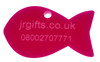 Fish Shaped Pet Tag pink