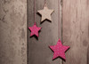 Personalised Star Dream Catcher painted pink and white stars up close