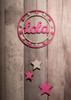 Personalised Star Dream Catcher painted pink and white