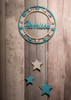 Personalised Star Dream Catcher painted blue and white