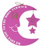 Personalised Moon and Stars Painted Pink
