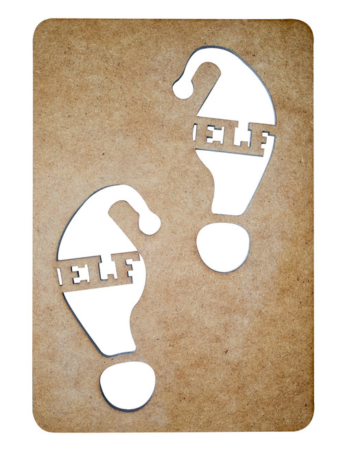 Elf Footprint Stencil