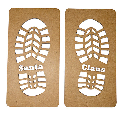 Santa Claus Footprint Stencil