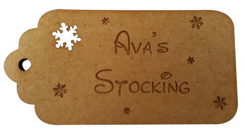 Personalised Stocking Tag with Snowflakes 2
