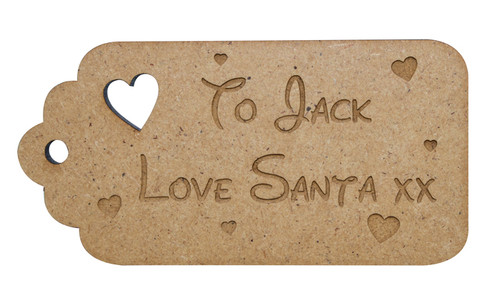 Personalised Stocking Tag with Hearts
