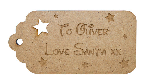 Personalised Stocking Tag with Stars