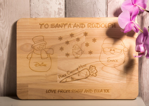 Personalised Santa Treat Chopping Board
