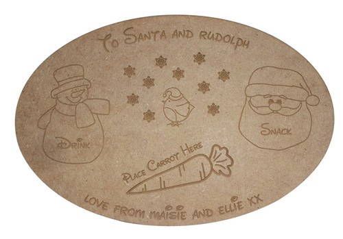 Personalised Santa Treat Board non painted