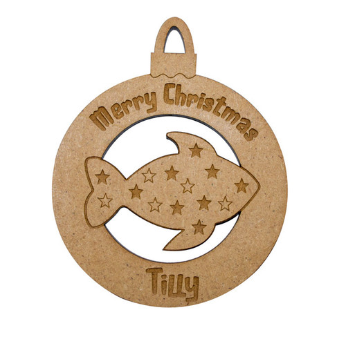 Personalised Pet Fish Bauble
