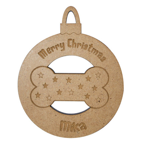 Personalised Pet Bone Bauble
