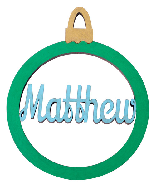 Personalised Name Bauble - Matthew