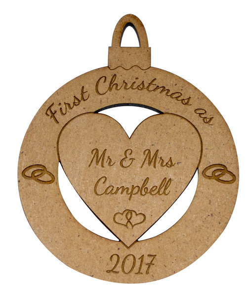 Personalised First Christmas As... Bauble