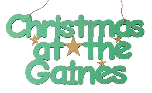 Christmas at the .... Sign in Bubblewump Style Text