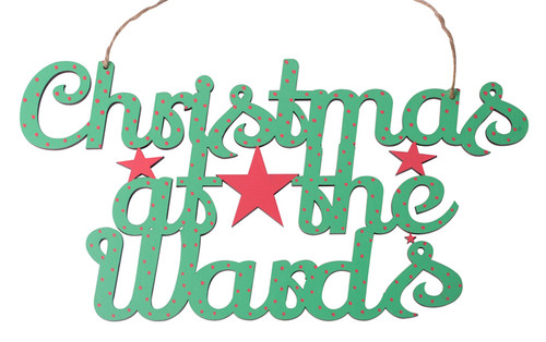 Christmas at the .... Sign in Lily Script Style Text