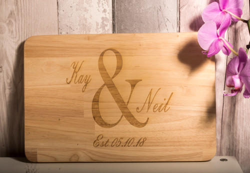 Personalised Wedding Chopping Board - Ampersand Design