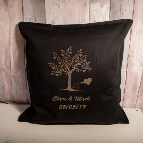 Wedding Tree cushion cover black cover