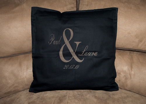 Personalised Wedding Cushion Cover - Ampersand Design