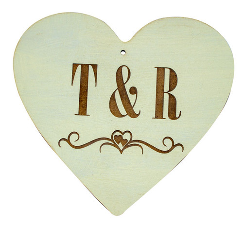 Personalised Wooden Initial Heart