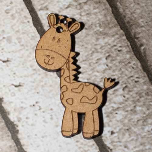 Giraffe Craft Keyring