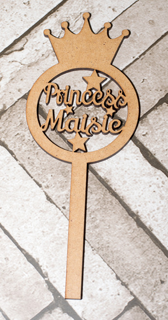 Personalised Crown Craft Wand