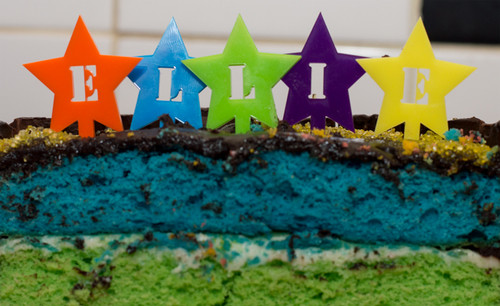 Letter in Star Cake Toppers