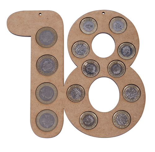 Age Coin Holder - 18 natural with coins