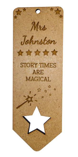 Wooden Bookmark Star design