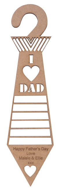 I Heart DAD Tie Holder