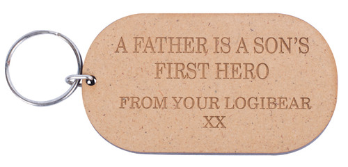 Wooden Father Is Son's First Hero Keyring