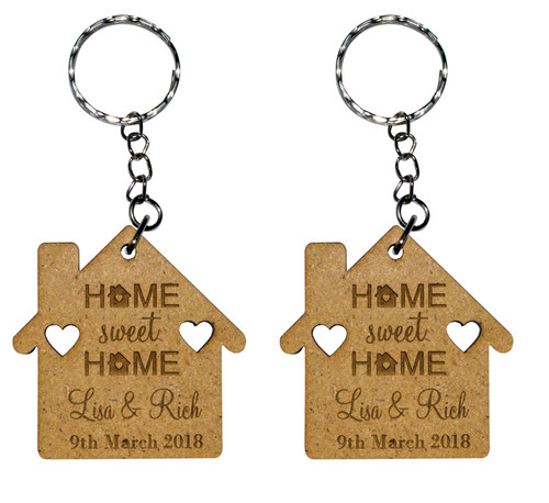 Personalised House Quote Keyrings