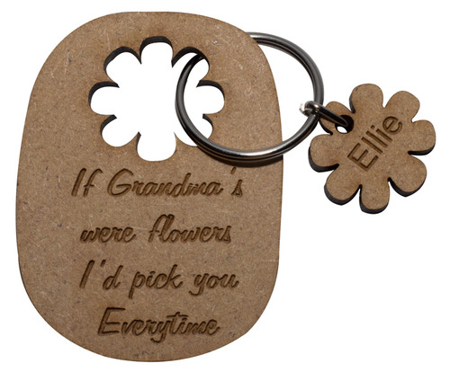 Name... are like Flowers Keyring