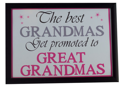 Best Grandmas Get Promoted to Great Grandmas Print