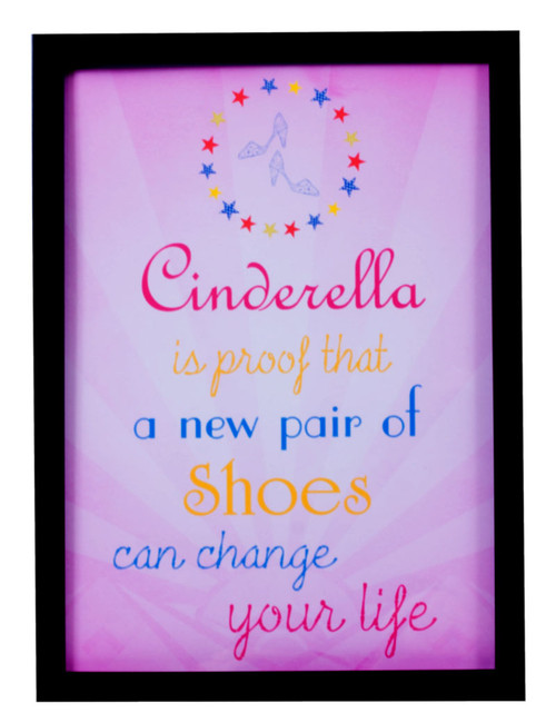 Cinderella shoe life quote print