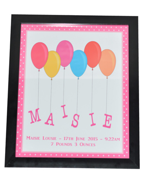 Balloon Name Print Pink design