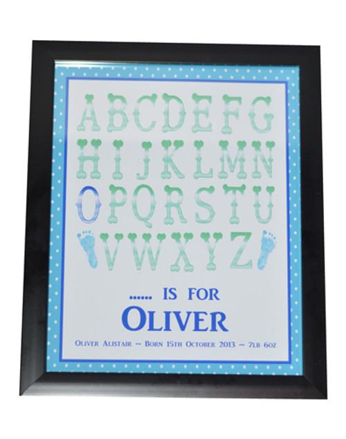 Alphabet Name Print Blue Design
