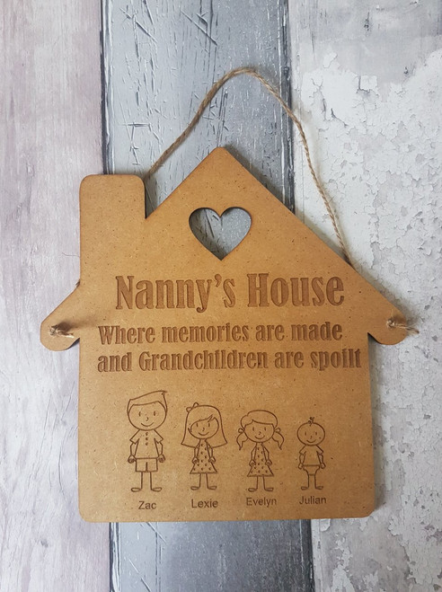 Wooden Grandparent house plaque