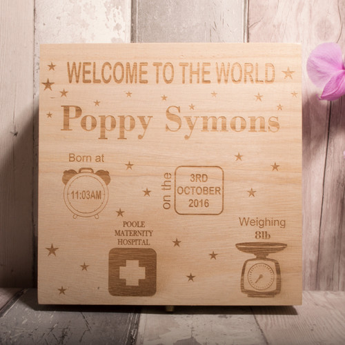 Personalised Keepsake Box - Style 2