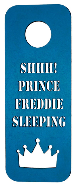 Personalised Prince Door Hanger