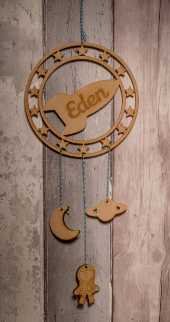 Personalised Rocket Dream Catcher