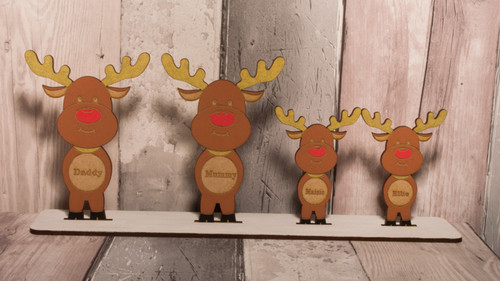 Family of Standing reindeers