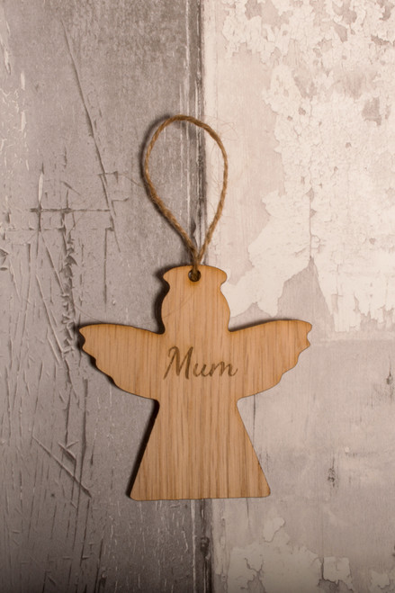 Personalised Wooden Angel