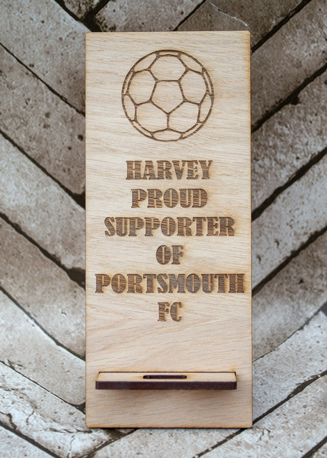 Football design phone stand proud supporter