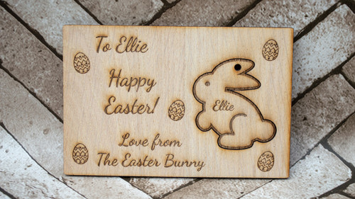 Personalised Easter Bunny Keyring Card