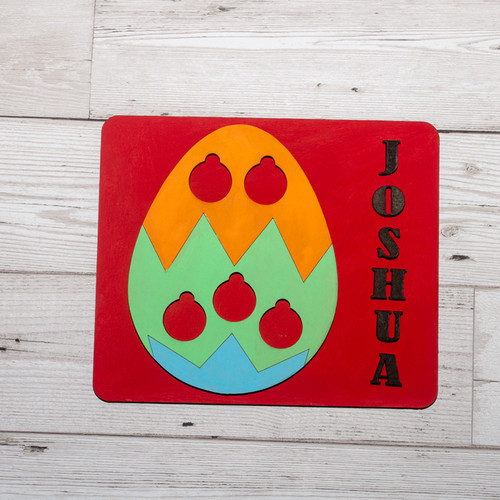 Personalised Easter egg coin holder