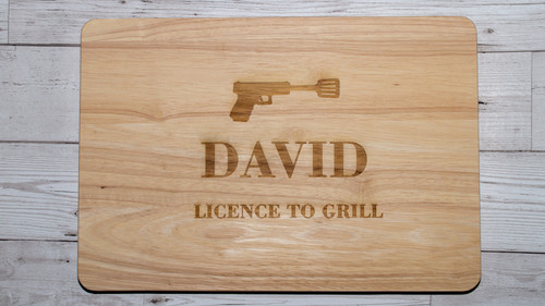 Licence To Grill Chopping Board