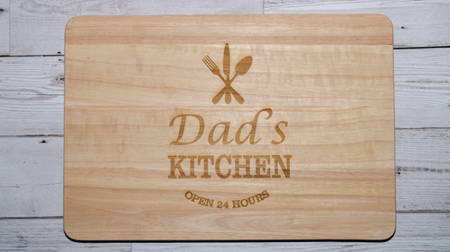 Personalised Kitchen Open 24 hours Chopping Board