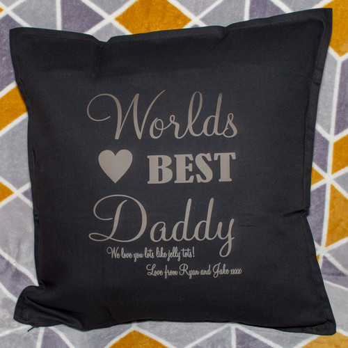 Personalised Worlds Best Cushion Cover