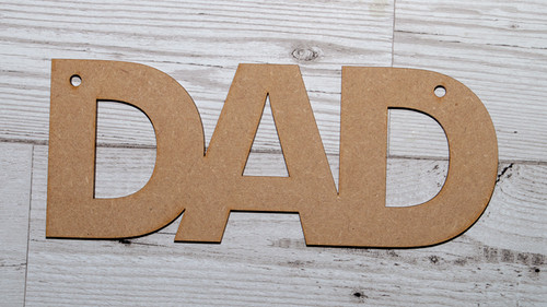 Decorate your own Dad hanger